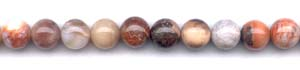 Red Flower Agate Beads
