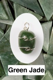 Green Jade Wire Wrapped Pendant