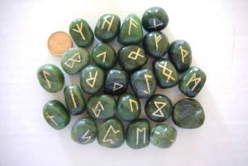 Jade Futhark Runes