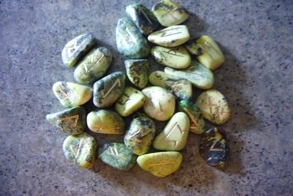 Serpentine Stone Futhark Runes