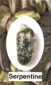 Serpentine Wire Wrapped Pendants