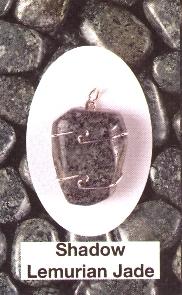 Shadow Lemurian Jade Wire Wrapped Stone Pendants
