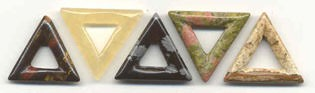 Triangle Donuts Pendants