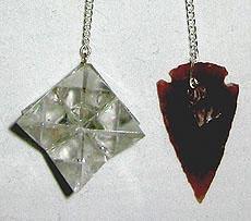 Pendulums: Quartz Flower/ Arrow Head