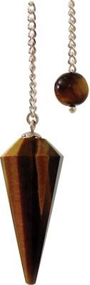 FACETED TIGER EYE Pendulums