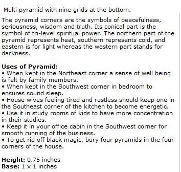 Jade 9 Grid Pyramids