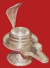 German Silver Yoni Base For Shivling