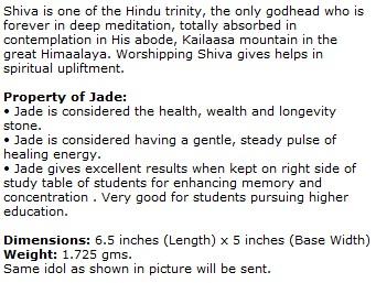Green Jade Shiva