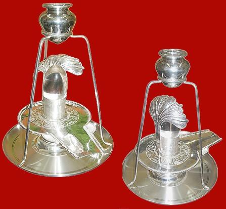 Large Sphatik Shivling With Silver Yoni Base