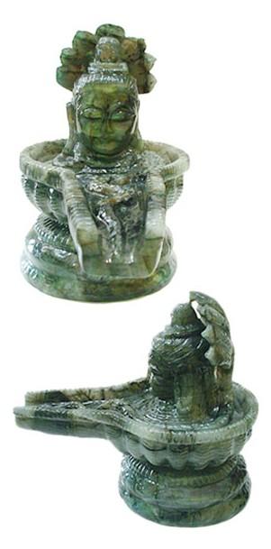Shivlinga In Natural Labradorite