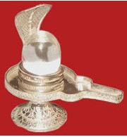 Sphatik Shivling With German Silver Yoni Base