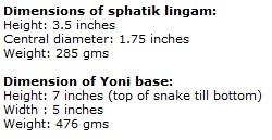 Rare Large Sphatik Shivling With Silver Yoni Base