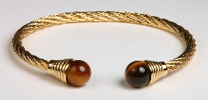 Tigers Eye Metal Bracelets