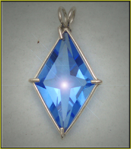 star swarovski with elements chain crystal p blue pendant silver
