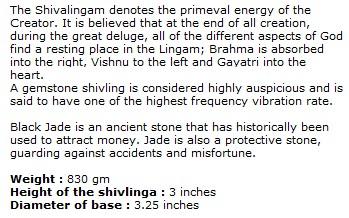 Black Jade Shivlinga