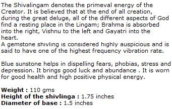 Blue Sunstone Shivaling