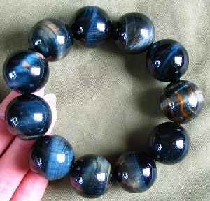 Blue & Gold Tiger Eye Bracelet