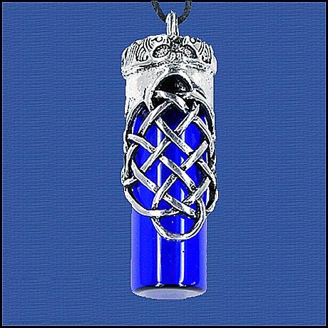 Open Celtic Knot Essential Oil Bottle Pendants