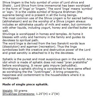 Sphatik Shivaling With Yoni Base