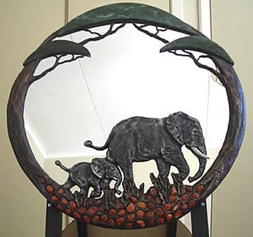Verdite Buddstone Mirror Carvings