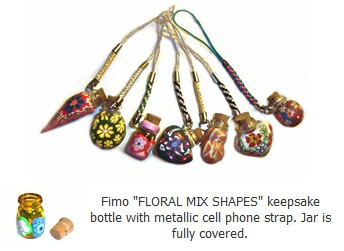 Fimo Clay Essential Oil Bottles