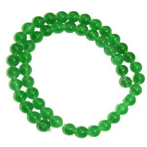 Green Jade Round Mala Beads, 8MM