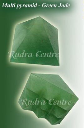 Multi Pyramid 9 Grid In Green Jade