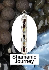 Shamanic Journey Crystal Vial pendant
