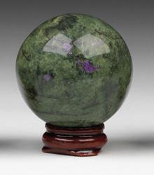 Serpentine Stichtite spheres