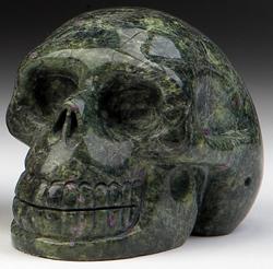Stichtite/Serpentine Skulls