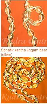 Sphatik Kantha Lingam Beads