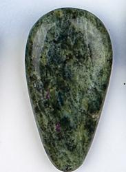 Serpentine and Stichtite Teardrop Shape