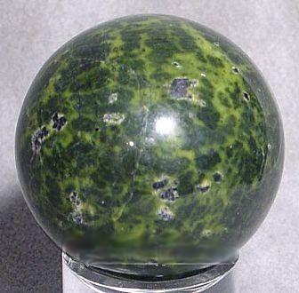 Stichtite in Serpentine Crystal Sphere