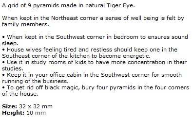 Tiger Eye 9 Pyramid Grids