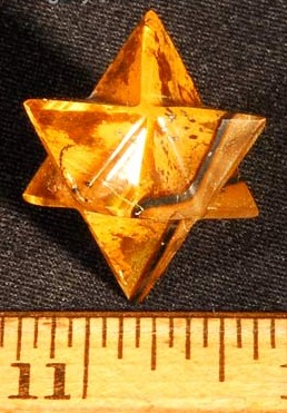 Golden Tiger Eye Merkaba