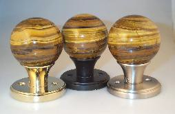 Banded Tigers Eye Door Pull Knob   $435.00