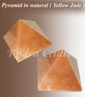 Yellow Jade Pyramids, Set Of 2