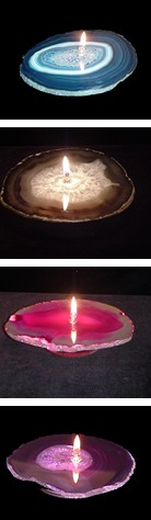 Agate Slice Oil Stone Candles
