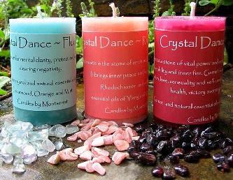 Candles with Crystals