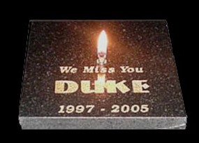 Engraved Pet Memorial Stone Candle