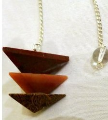 Red Jasper- Orange Jasper- Tiger Eye Pyramid Pendulum