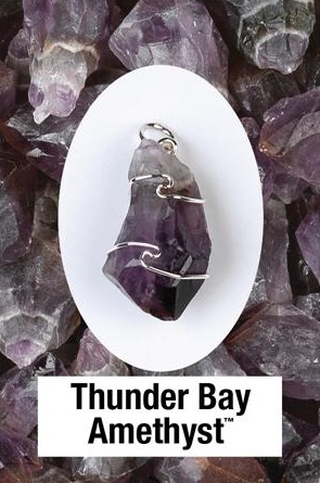 Thunder Bay Amethyst Wire Wrapped Pendant