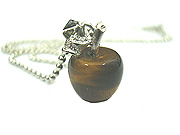 Tiger Eye Apple Pendant