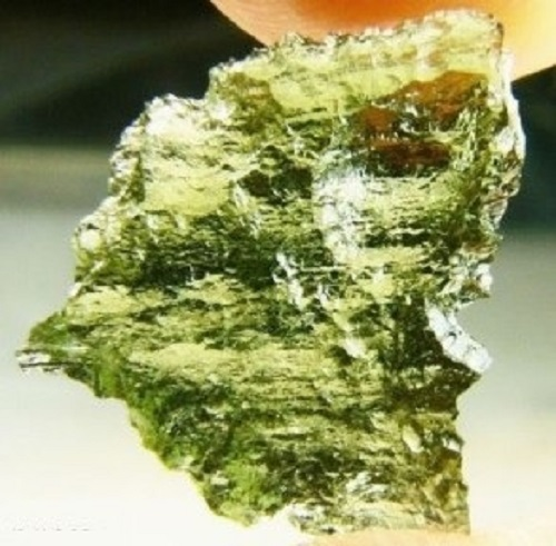 Moldavite Crystal Soap With Rock