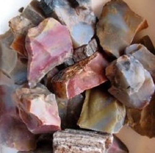 Petrified Wood Crystal Soap With Rock