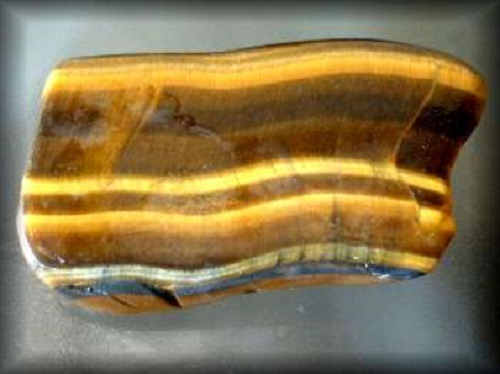 Tigers Eye Crystal Soap With Rock
